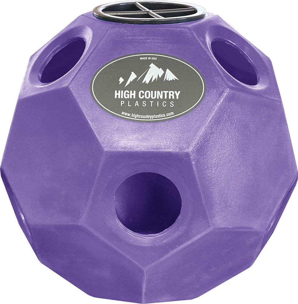High Country Plastics Hay Play Toy in Purple.