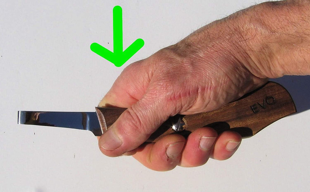 the EVO Zip Knife is designed to be held in many ways for ease of control and use.