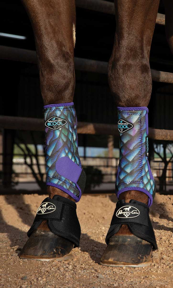 Professional's Choice Brrr 2XCOOL Sports Medicine Boot Value 4-PACK - Dragon Scales Medium.  Includes front and rear boots. Bell Boots sold separately.