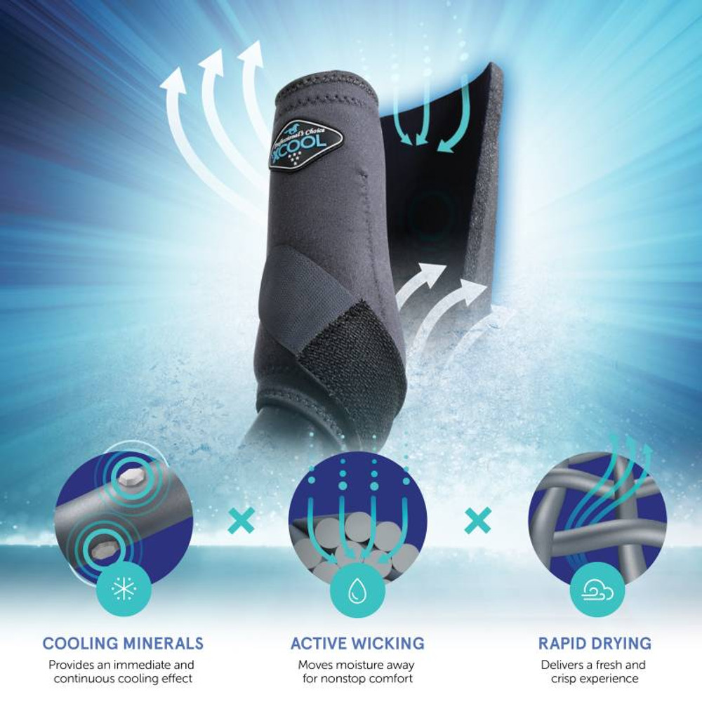 """The liner of the boot is made with 2XCool performance fabric by brrr°, a technologically-advanced textile that combines natural cooling minerals, active wicking, and rapid drying to create a """"Triple Chill Effect"""" that instantly and continuously draws away heat and moisture."""