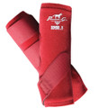 Professional's Choice SMBII Sport Medicine Boots in crimson red.