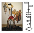 High Country Plastics 3 Tier Saddle Cart; top two tiers swivel as shown by the pictures.