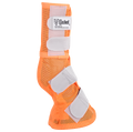 Cashel Fly Leg Guards in the new orange color.