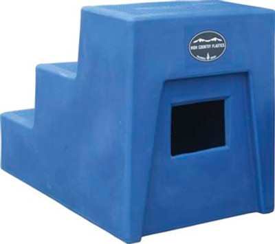 High Country Plastics 3 Step Mounting Block back side view showing storage compartment