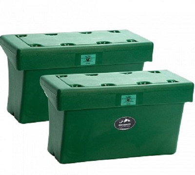 High Country Plastics Bear Box; green.  IGBC Certified Bear-Resistant Container
