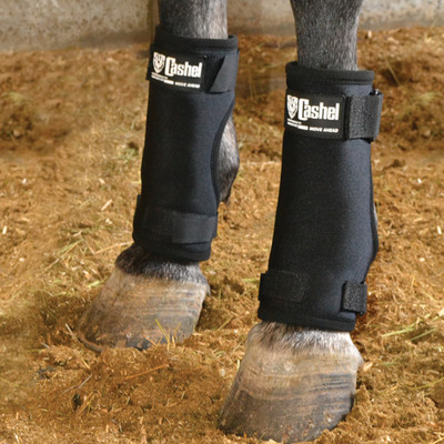 Cashel Stall Sore Boots.  Finally, a solution for horses bruising and developing pressure sores on the foreleg as a result of being down with medical conditions or stalled on hard surfaces.  Prevent injury before you need a vet or heal existing conditions with these great boots.