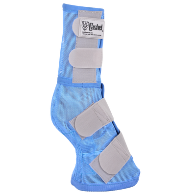 Cashel Fly Leg Guards in the new blue color.