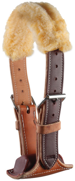 One of the best wind sucking cribbing collars we've found!  Yes, we've used several collars for our wind sucking horse and this one was the best.  Shown is the Brown Dare Cribbing Collar with fleece cover.