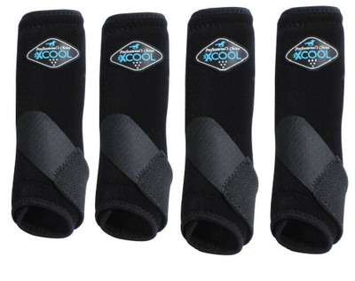 Professional's Choice Brrr 2XCOOL Sports Medicine Boot Value 4-PACK - Black Medium.  Includes front and rear boots.