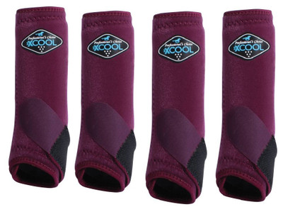 Professional's Choice Brrr 2XCOOL Sports Medicine Boot Value 4-PACK - Wine Medium.  Includes front and rear boots.