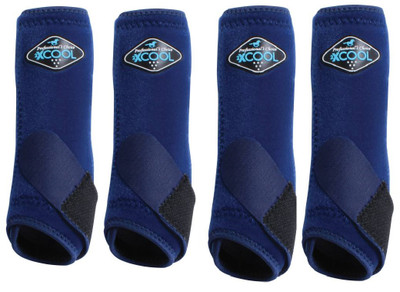 Professional's Choice Brrr 2XCOOL Sports Medicine Boot Value 4-PACK - Navy Small.  Includes front and rear boots.