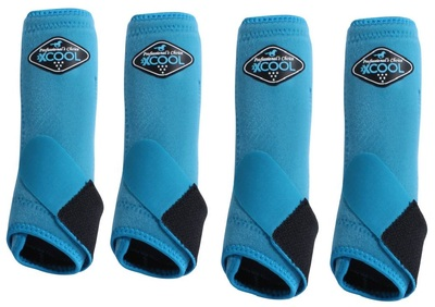 Professional's Choice Brrr 2XCOOL Sports Medicine Boot Value 4-PACK - Pacific Blue Medium.  Includes front and rear boots.