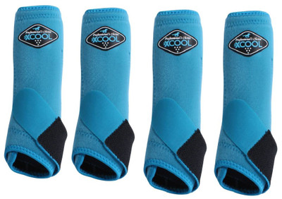 Professional's Choice Brrr 2XCOOL Sports Medicine Boot Value 4-PACK - Pacific Blue Large.  Includes front and rear boots.