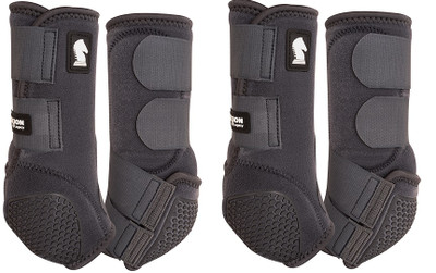 Color: Charcoal.  Introducing the latest innovation in the Legacy Boot lineup.  The Classic Equine Legacy Flexion technology provides the Fetlock Cradle System using individual abrasive resistant cells with impact and wear protection never before seen in equine leg protection. Each Flexion cell can move and stretch individually.