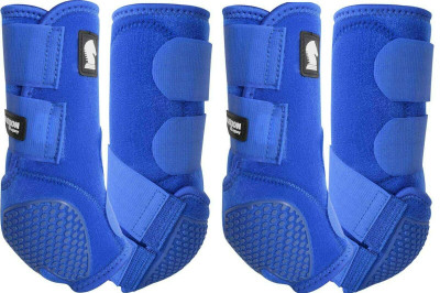 Color: Royal Blue.  Introducing the latest innovation in the Legacy Boot lineup.  The Classic Equine Legacy Flexion technology provides the Fetlock Cradle System using individual abrasive resistant cells with impact and wear protection never before seen in equine leg protection. Each Flexion cell can move and stretch individually.