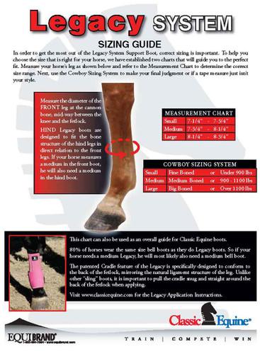 Classic Equine Horse Front Boots Classicfit Sling Stripes U-20SS
