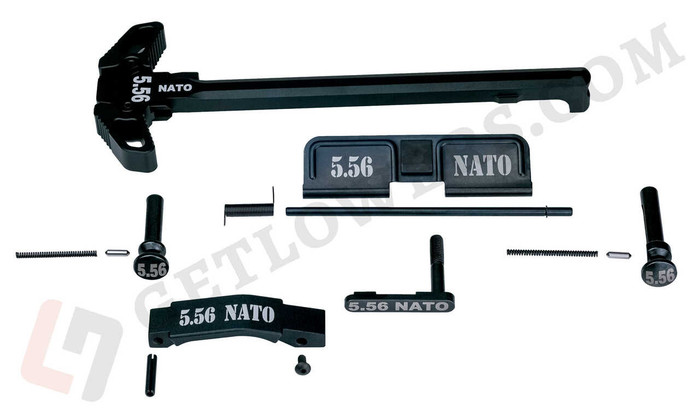 glcom AR-15 5.56 NATO 15-Piece Laser-Engraved Extended/ Ambidextrous Identification Parts Kit