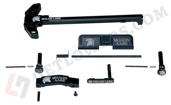 glcom AR-15 MOLON LABE 15-Piece Laser-Engraved Extended/ Ambidextrous Motto Parts Kit