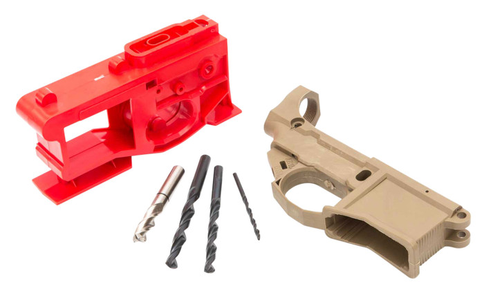 Phoenix2 80% AR-15 Lower Receiver by Polymer80 - Includes Jig & Tooling - FDE