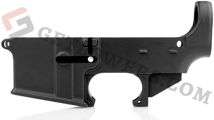 glcom AR-15 80percent Lower Receiver - Forged Aluminum, F/S Engraved, Mil-Spec Black Anodized BLEM