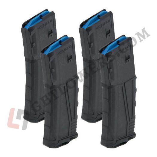UTG PRO UTG PRO AR-15 .223/ 5.56 30-Round Magazine 4-Pack - Glass-Filled Polymer, Black