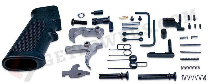AR-10 80% Lower Receiver Kit With Trigger Group, Pistol Grip, Hammer, Takedown Pin, Anti-Walk Pins, and More!