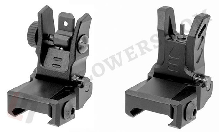 UTG UTG Low Profile Flip-up Front and Rear Sight Set for Picatinny Handguard