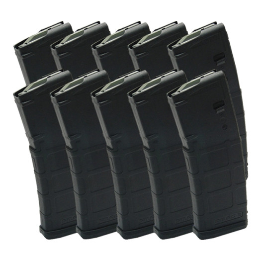 MAGPUL PMAG® AR-15 .223/ 5.56 30-Round Magazine (10-Pack) - GEN M2 MOE® Polymer, Black