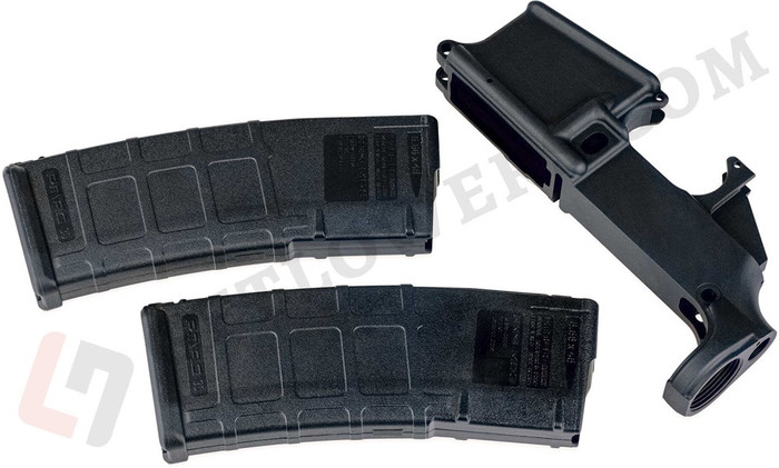 AR15 80% Lower Receiver/ 5.56 Magazine x2 - Anodized Forging & Magpul PMAGs