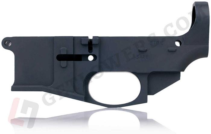 glcom AR15 80percent Lower Receiver - Billet Aluminum, Engraved, Milspec Black Anodized