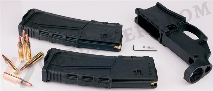 AR15 80percent Lower Receiver/ LOADED 5.56 Magazine x2 - Anodized Billet and UTG30s