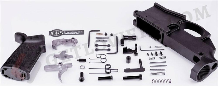 80 Billet AR 15 Lower Receiver and 38-Piece Kit Including Trigger Group, Pistol Grip, Hammer, Takedown Pin, Anti-Walk Pins, and More!