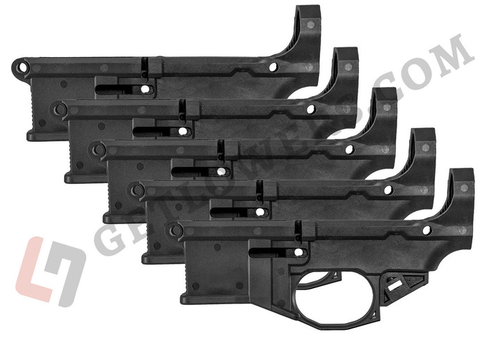 Polymer80 Phoenix2 80percent AR-15 Lower Receiver by Polymer80 5-Pack - Jig and Tooling Included - BLK