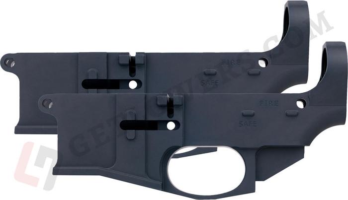 glcom AR15 80percent Lower Receiver 2-Pack - Billet Aluminum, Engraved, Milspec Black Anodized