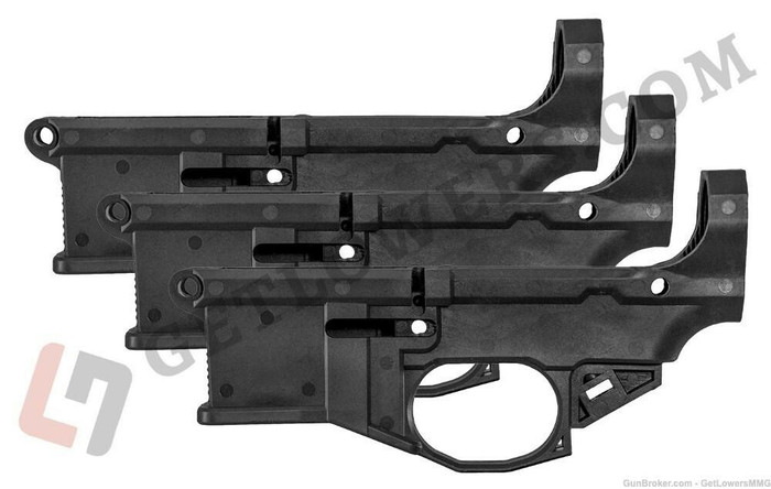 Polymer80 Phoenix2 80percent AR-15 Lower Receiver by Polymer80 3-Pack - Jig and Tooling Included - BLK