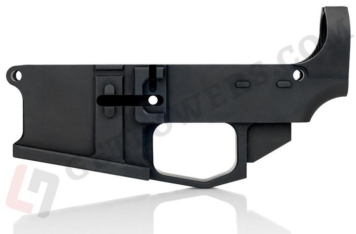 glcom AR15 80percent Lower Receiver - Billet Aluminum, Enhanced, Milspec Black Anodized