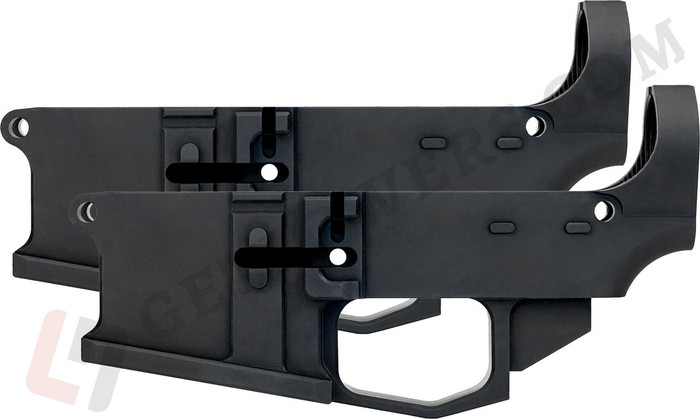 glcom AR15 80percent Lower Receiver 2-Pack - Billet Aluminum, Enhanced, Milspec Black Anodized
