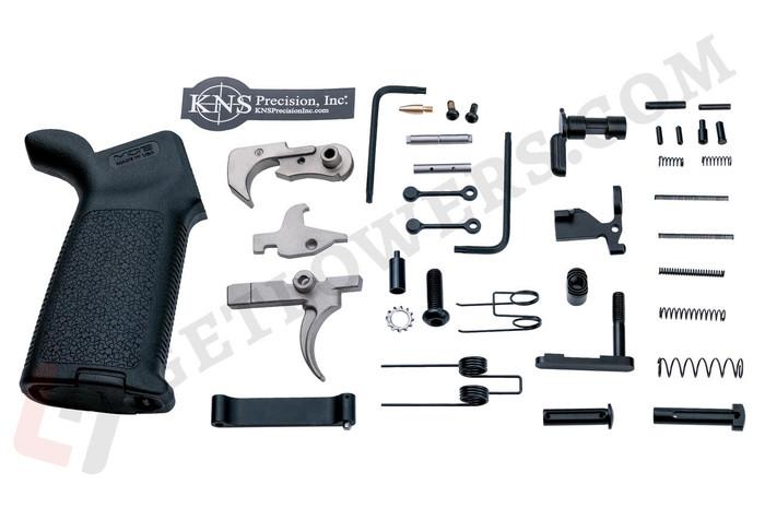 glcom AR-15 38-Piece Ultimate Lower Parts Kit c/w Grip and FCG - Nickel Boron Extras