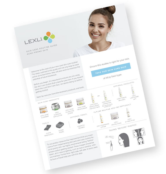 Lexli Acne Routine Guidebook