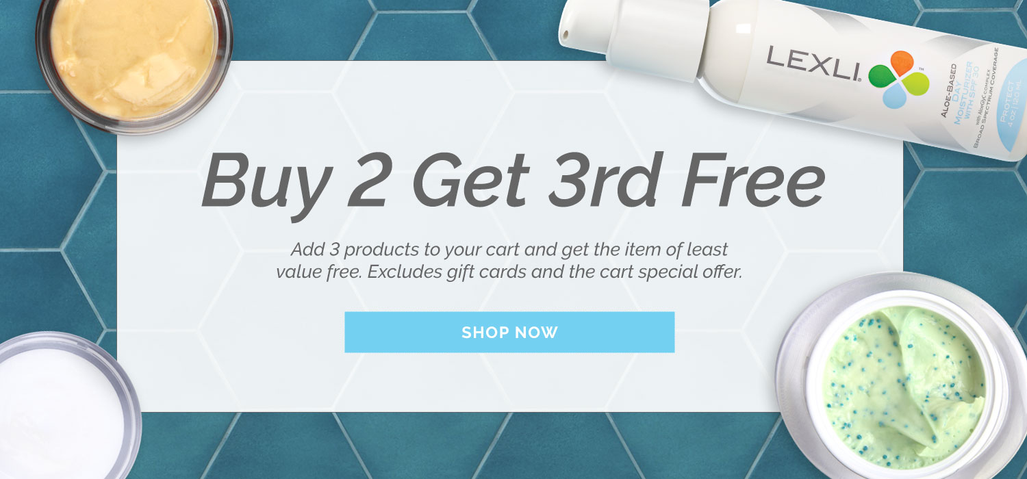 Buy 2 products get a 3rd product free! Add all three to your cart for the discount.