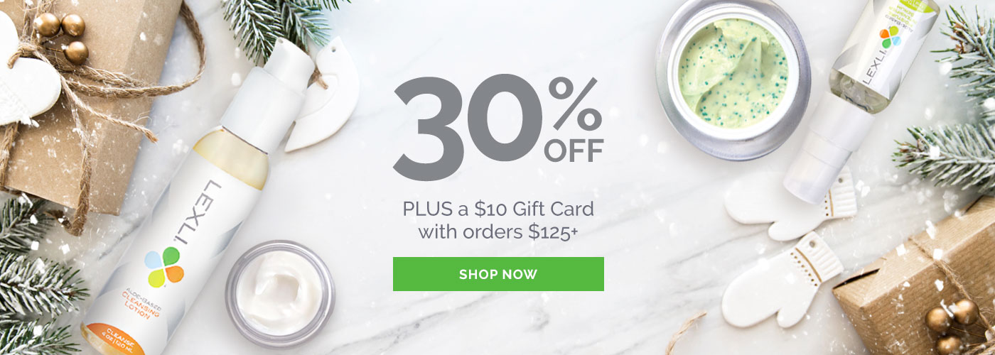 30% off plus a $10 gift card with orders $125+