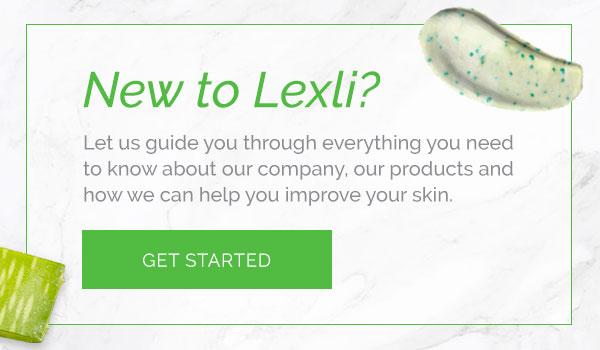 Get Started with Lexli, learn more about our company, our products, and your skin!