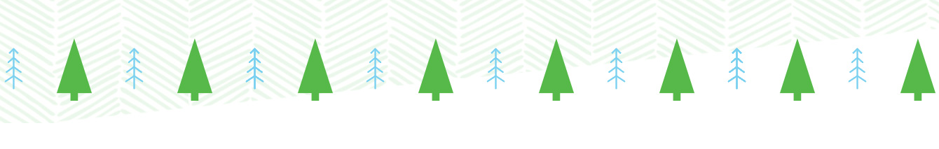 decorative holiday trees graphic