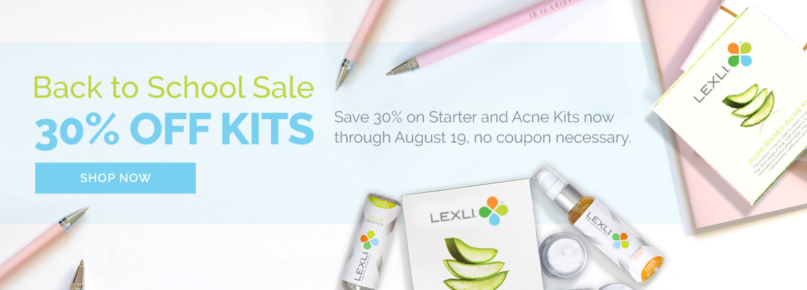 Back to School Sale: 30% off Starter and Acne Kits through 9/25