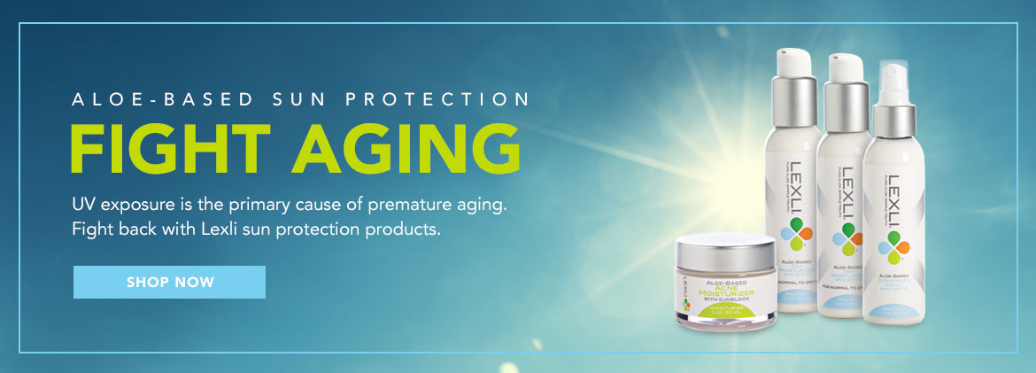 Fight Aging with UV protection. Shop now.