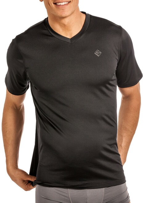Performance V-Neck T-Shirt - Black #UV-8767