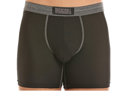 Black 6-Inch Performance Boxer Briefs #U6-5944
