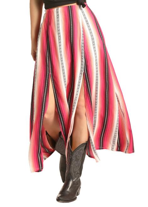 High Slit Striped Skirt #69-4517