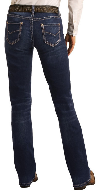 Mid Rise Extra Stretch Bootcut Riding Jeans #W7-4166
