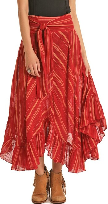 Ruffled Maxi Skirt #69-5148